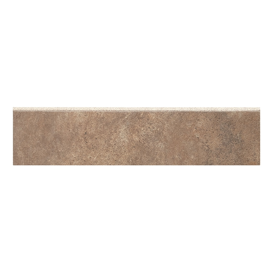 Style Selections Mesa Rust- Glazed Porcelain Porcelain Bullnose Tile (Common: 3-in x 12-in; Actual: 2.75-in x 11.75-in)