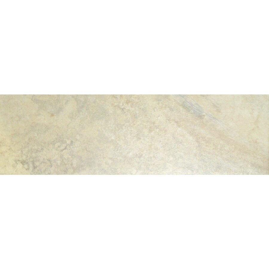 Style Selections Mesa Almond Glazed Porcelain Bullnose Tile Common 3 In X 12