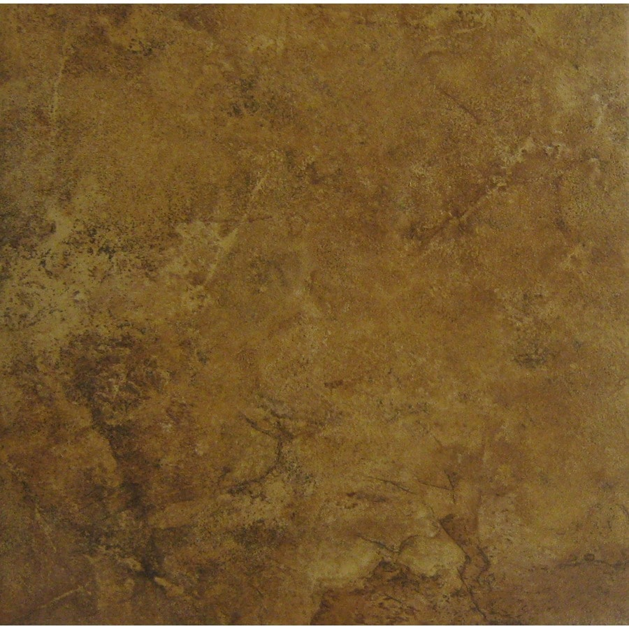 Style Selections 7-Pack Camelot Red Glazed Porcelain Indoor/Outdoor Floor Tile (Common: 18-in x 18-in; Actual: 17.75-in x 17.75-in)