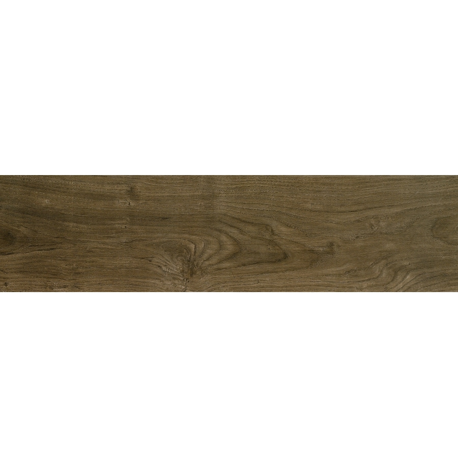 Shop Style Selections Metro Walnut Wood Look Porcelain Floor And ...
