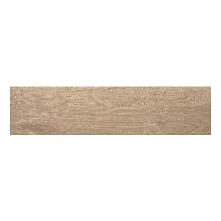 Shop Style Selections Serso Wheat Wood Look Porcelain