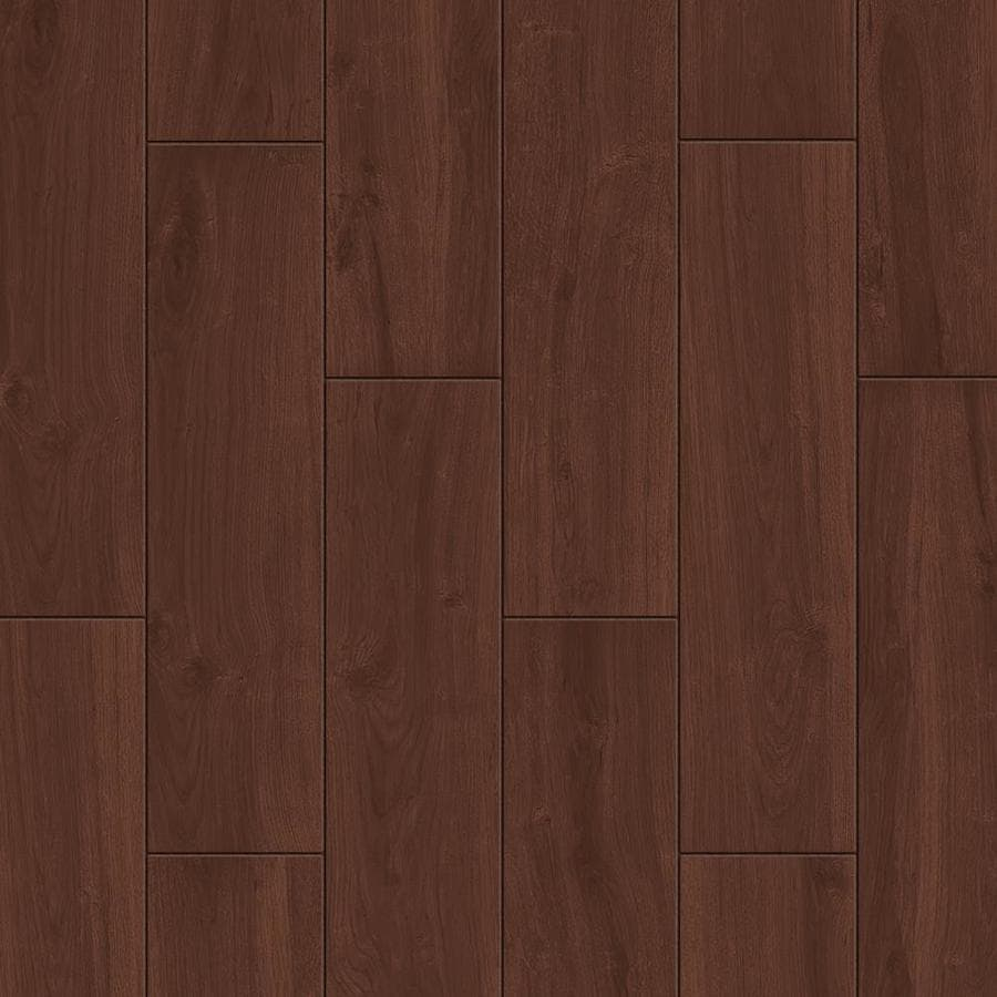 Shop style selections serso black walnut wood look porcelain floor and wall tile common 6 in x - Lowes floor tiles porcelain ...