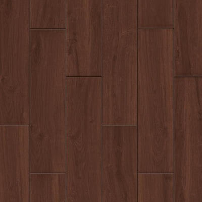 Serso Black Walnut 6 In X 24 Porcelain Wood Look Floor And Wall Tile Common Actual 5 75 23