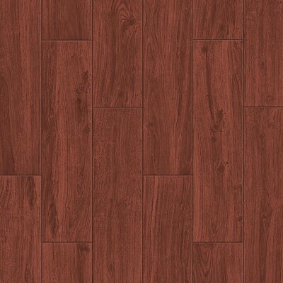 Serso Mahogany 6 In X 24 Porcelain Wood Look Floor And Wall Tile Common Actual 23 75 5