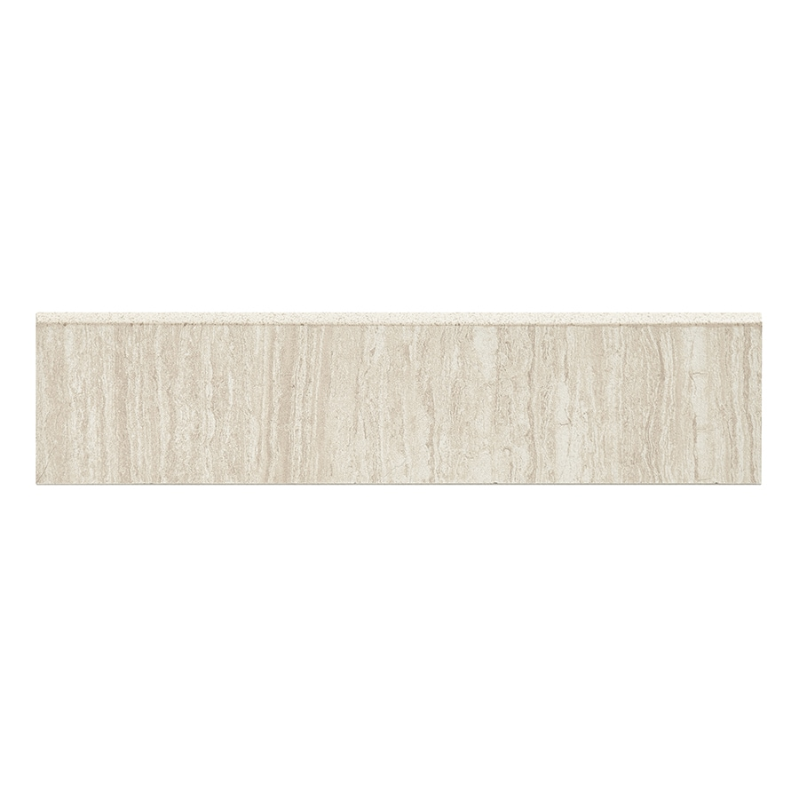 Style Selections Leonia Sand Porcelain Bullnose Tile (Common: 3-in x 12-in; Actual: 2.75-in x 11.75-in)