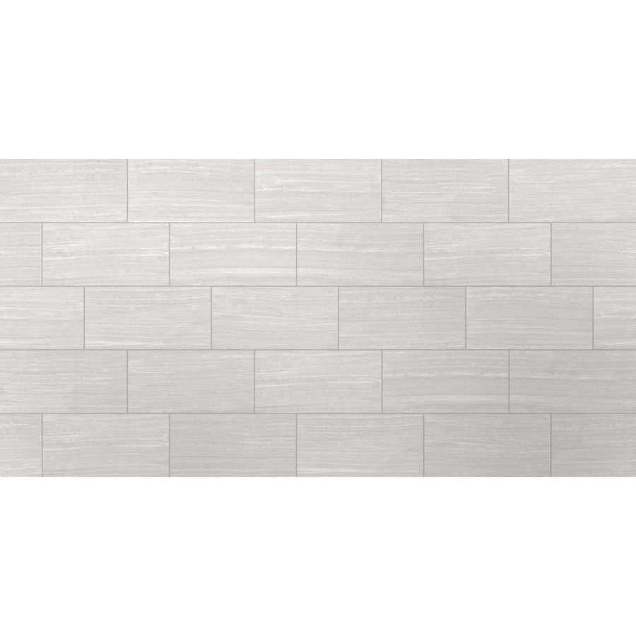 Shop Style Selections Leonia Silver Porcelain Floor and Wall Tile ...