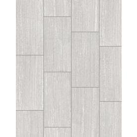 Style Selections Leonia Silver 12-in x 24-in Porcelain Floor and Wall Tile (Common: 12-in x 24-in; Actual: 11.75-in x 23.75-in)
