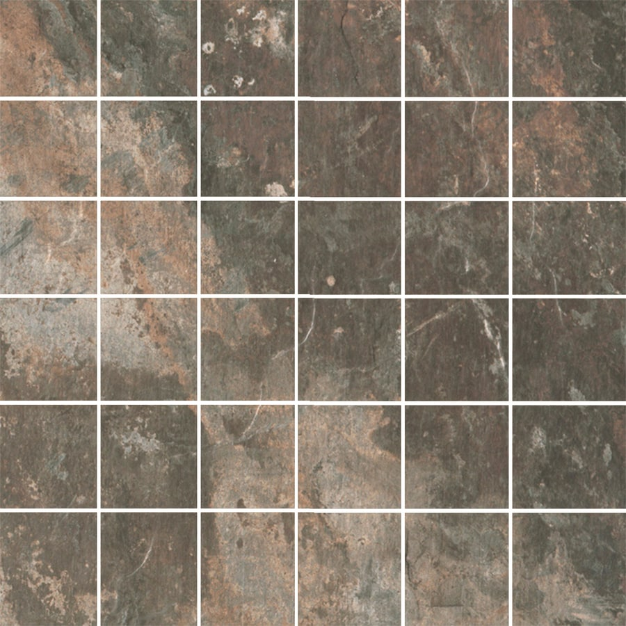 FLOORS 2000 Afrika Cape Town Uniform Squares Mosaic Porcelain Floor and Wall Tile (Common: 12-in x 12-in; Actual: 11.75-in x 11.75-in)
