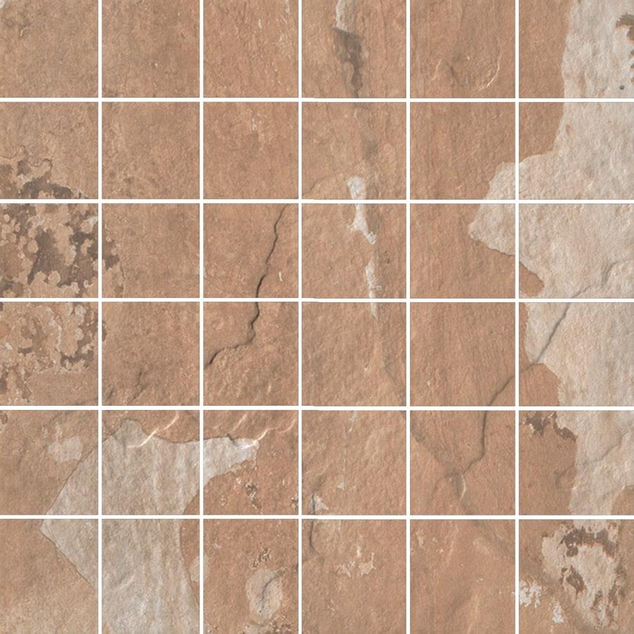 FLOORS 2000 Afrika Dakar Brown Uniform Squares Mosaic Porcelain Floor Tile (Common: 12-in x 12-in; Actual: 11.75-in x 11.75-in)