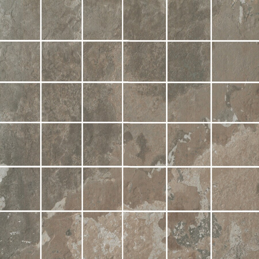 FLOORS 2000 Afrika Nairobi Uniform Squares Mosaic Porcelain Floor and Wall Tile (Common: 12-in x 12-in; Actual: 11.75-in x 11.75-in)