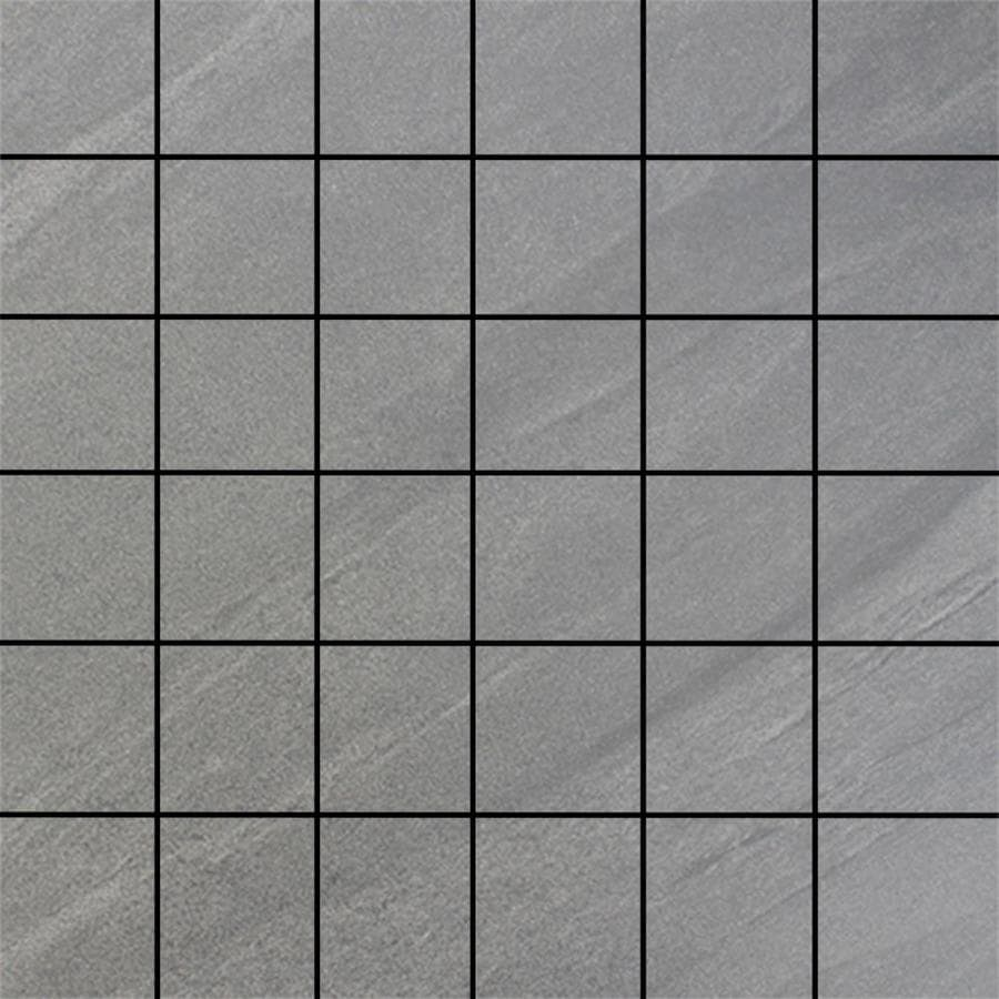 FLOORS 2000 Galaxy Grigio Uniform Squares Mosaic Porcelain Floor and Wall Tile (Common: 12-in x 12-in; Actual: 11.75-in x 11.75-in)