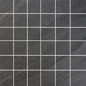 Floors 2000 Galaxy Nero 12 In X Porcelain Uniform Squares Mosaic Floor