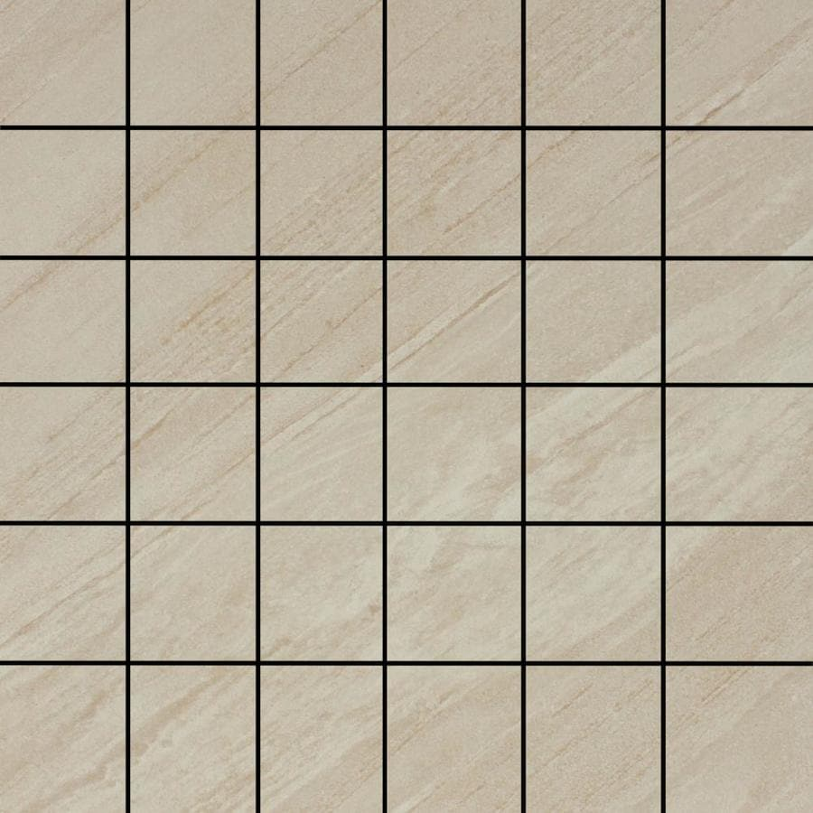FLOORS 2000 Galaxy Beige Uniform Squares Mosaic Porcelain Floor and Wall Tile (Common: 12-in x 12-in; Actual: 11.75-in x 11.75-in)