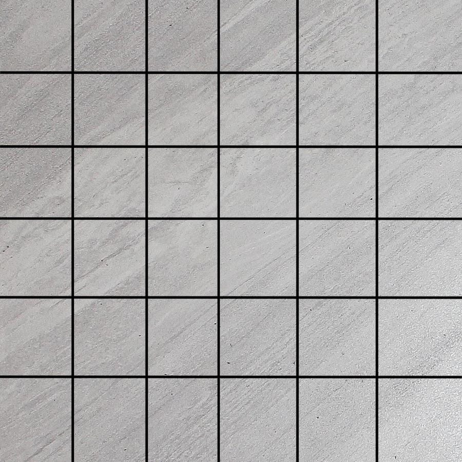 FLOORS 2000 Galaxy Silver Uniform Squares Mosaic Porcelain Floor and Wall Tile (Common: 12-in x 12-in; Actual: 12-in x 12-in)