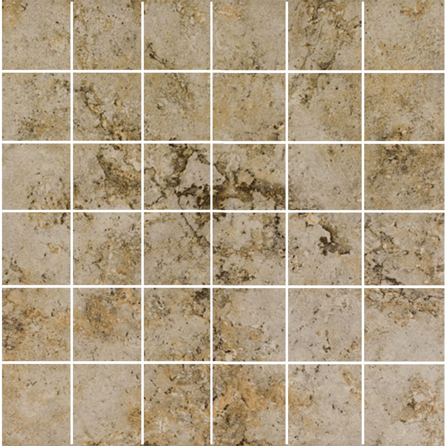 FLOORS 2000 Corfinio Fresco Uniform Squares Mosaic Porcelain Floor and Wall Tile (Common: 12-in x 12-in; Actual: 11.75-in x 11.75-in)