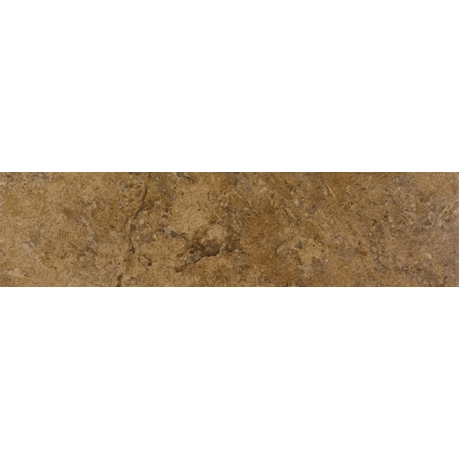 FLOORS 2000 Corfinio Sangria Porcelain Bullnose Tile (Common: 3-in x 12-in; Actual: 3-in x 11.92-in)