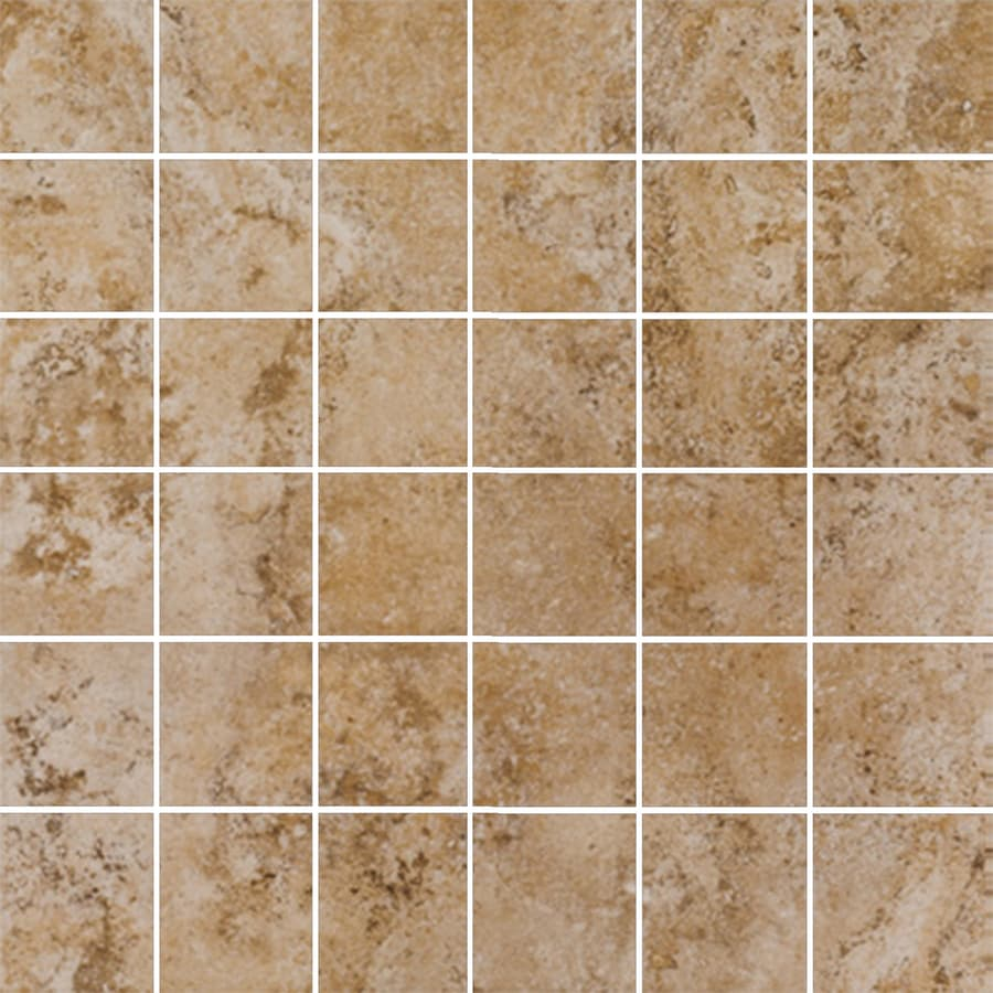 FLOORS 2000 Tiburstone Blend Uniform Squares Mosaic Porcelain Floor and Wall Tile (Common: 12-in x 12-in; Actual: 11.75-in x 11.75-in)