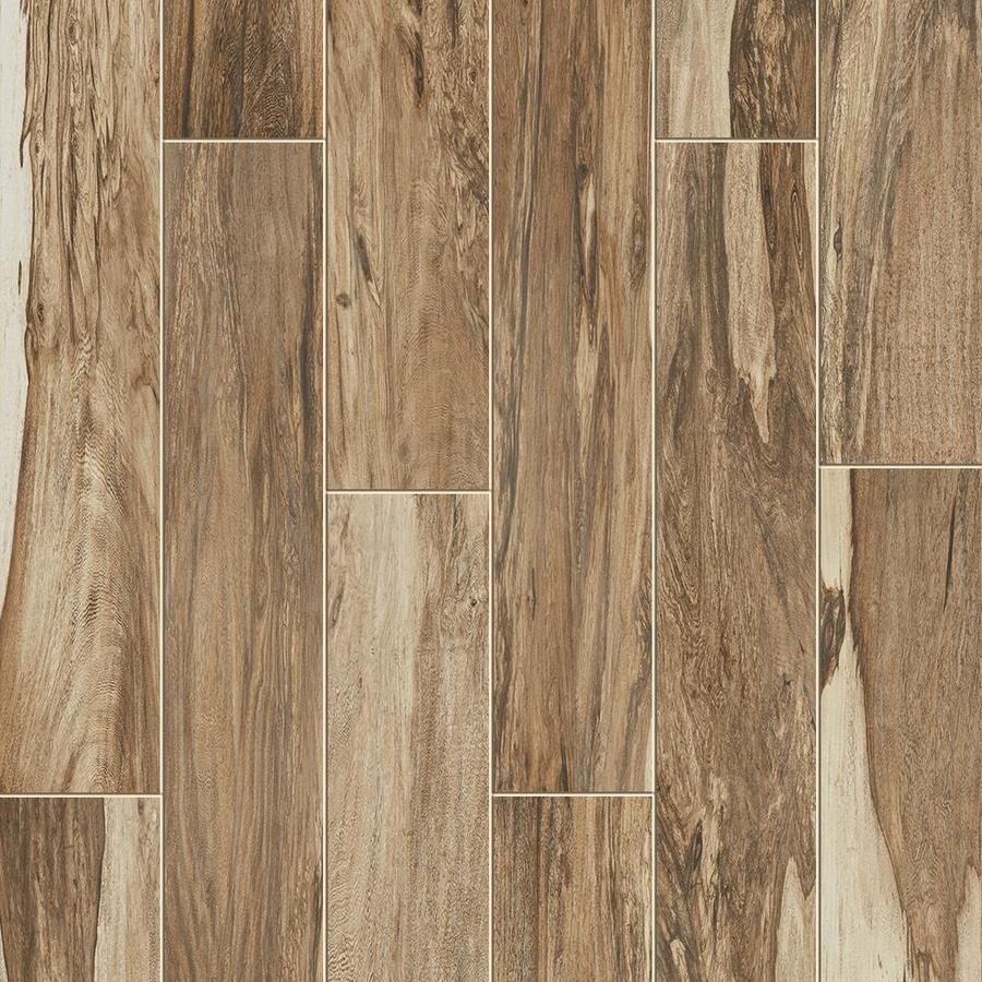 Style Selections Brazilian Pecan Natural Wood Look Floor And Wall Tile Common 6