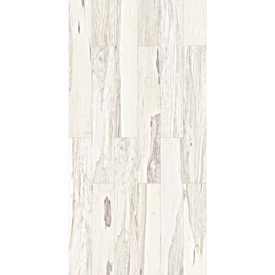 Shop Style Selections Brazilian Pecan White Porcelain Wood Look