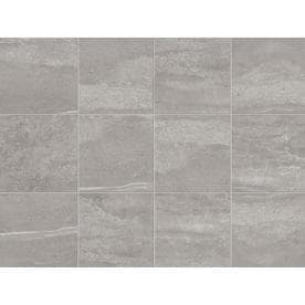 Style Selections Skyros Gray 12-in x 12-in Porcelain Floor and Wall Tile (Common: 12-in x 12-in; Actual: 11.75-in x 11.75-in)