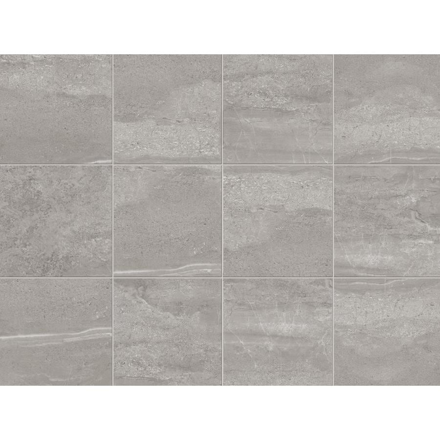 Shop Style Selections Skyros 8 Pack Gray Porcelain Floor