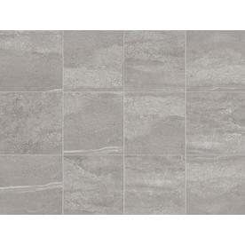 Style Selections Skyros 8 Pack Gray Porcelain Floor And Wall Tile Common 18