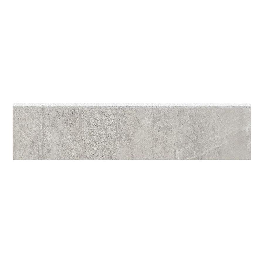Style Selections Skyros Gray Porcelain Bullnose Tile Common 3 In X 12