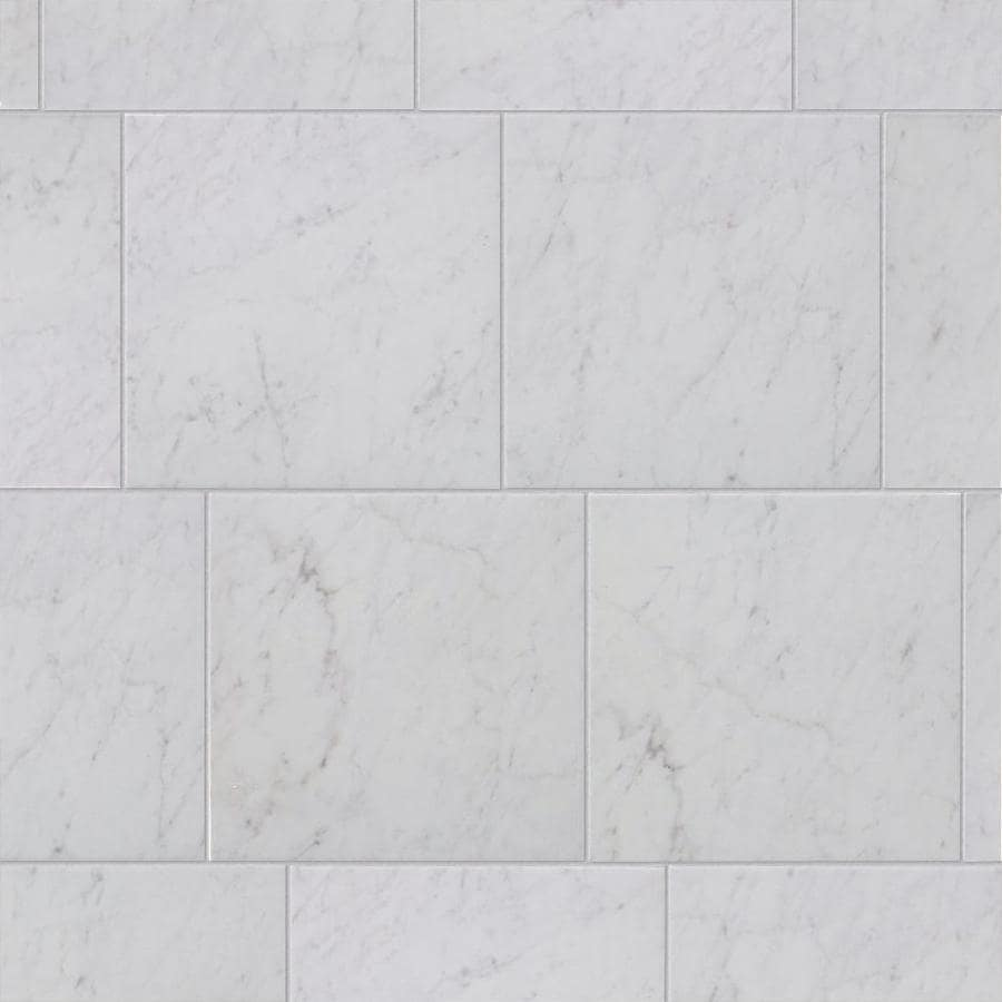 Style Selections Futuro White Porcelain Floor and Wall Tile (Common: 12-in x 12-in; Actual: 11.75-in x 11.75-in)