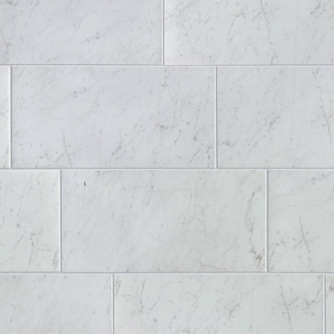 Style Selections Futuro White 12 In X 24 In Glazed Porcelain Marble Look Floor And Wall Tile In The Tile Department At Lowes Com