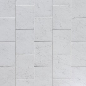 Style Selections Futuro White 9-in x 12-in Glazed Porcelain Marble Look Tile
