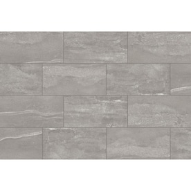 Style Selections Skyros Gray 12-in x 24-in Glazed Porcelain Floor and Wall Tile