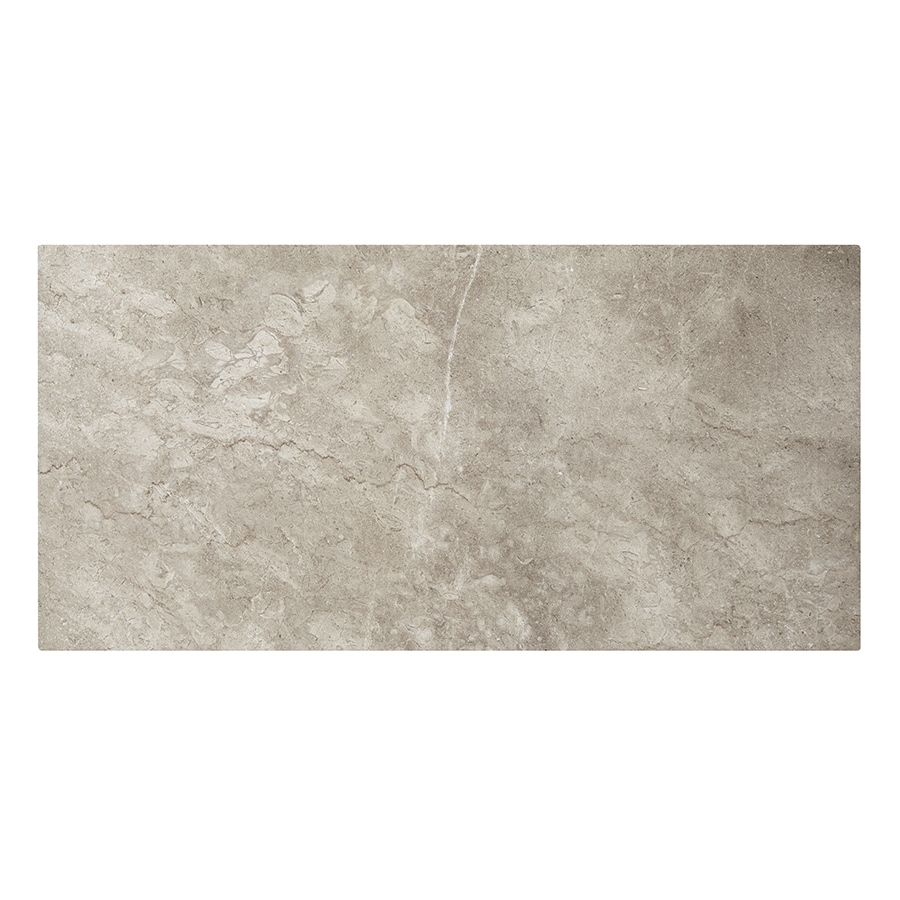 Shop style selections bagnoli noce porcelain floor and wall tile common 12 in x 24 in actual - Lowes floor tiles porcelain ...
