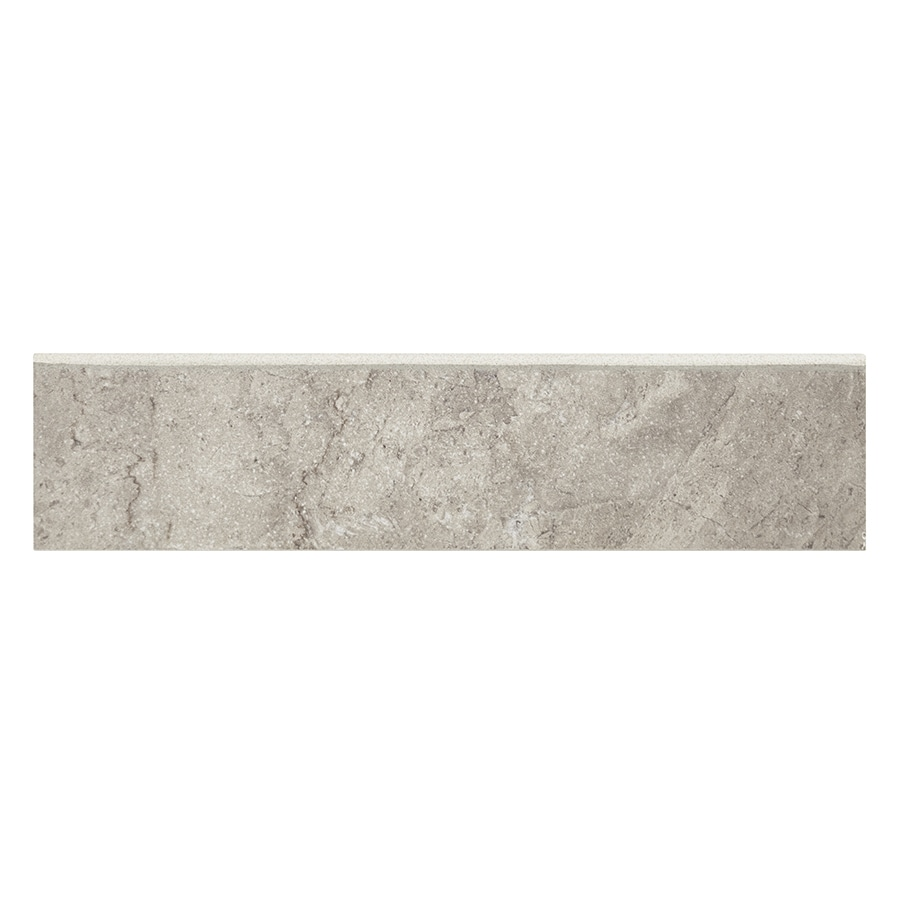 Style Selections Bagnoli Noce Porcelain Bullnose Tile (Common: 3-in x 12-in; Actual: 2.75-in x 11.75-in)