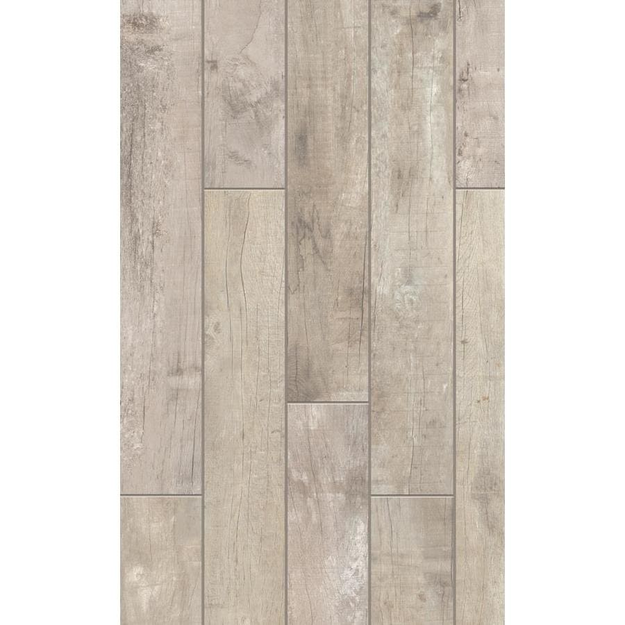 Style Selections Sahalee Natural Wood Look Porcelain Floor And Wall Tile (Common: 8-in x 48-in; Actual: 47.75-in x 7.75-in)