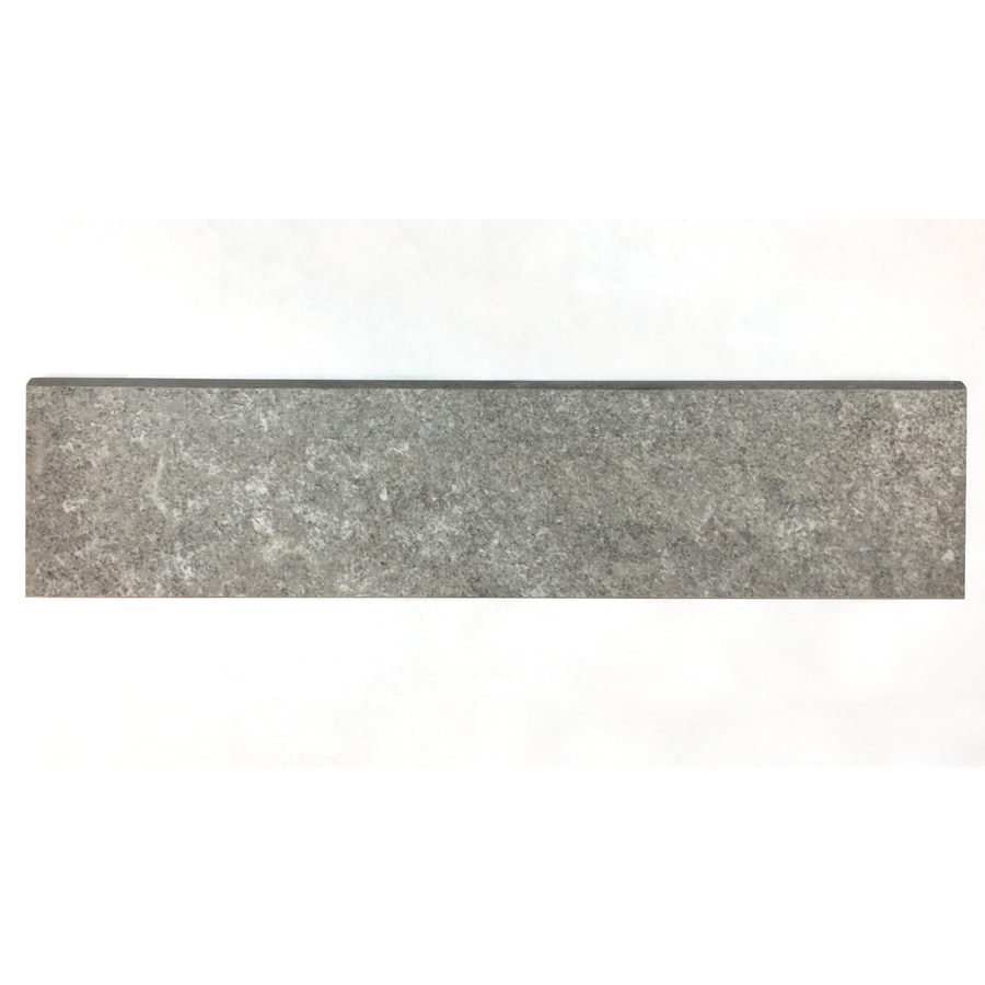 Style Selections Chatham Grey Porcelain Bullnose Tile (Common: 3-in x 12-in; Actual: 2.75-in x 11.75-in)