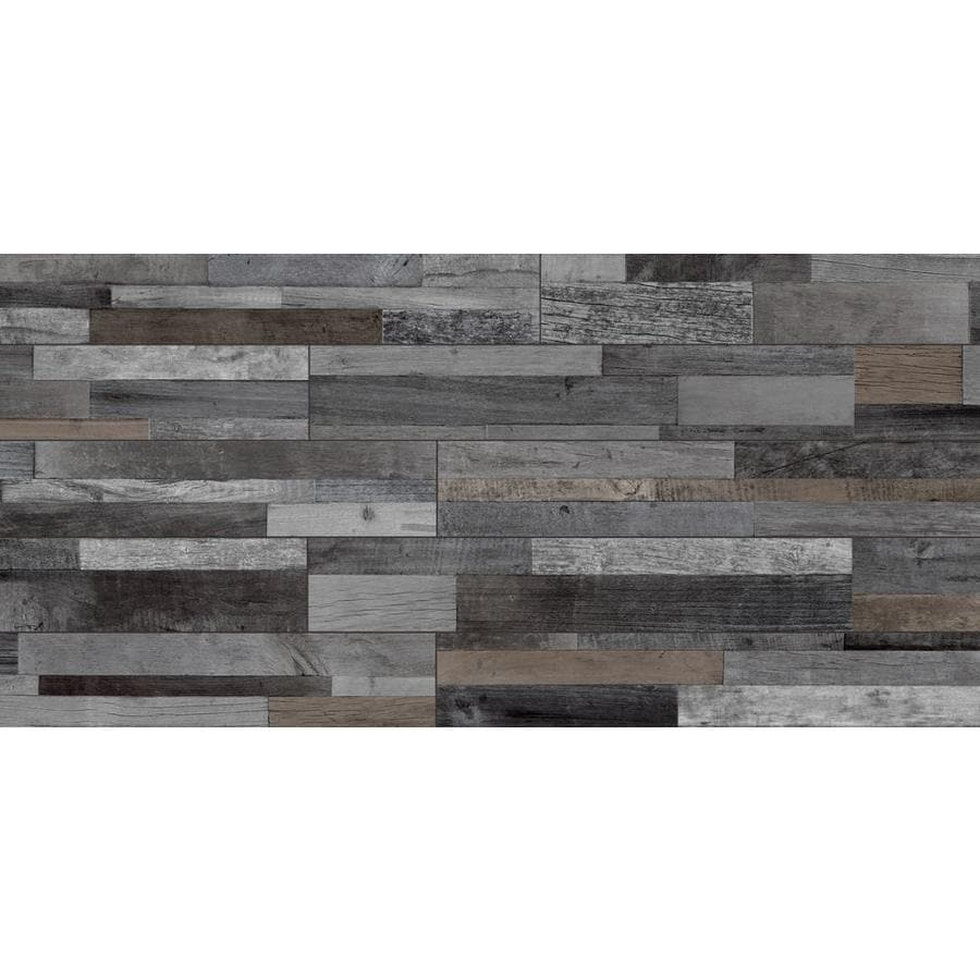 Style Selections Eastport Charcoal Wood Look Slip Resistance Floor And Wall Tile Common 8