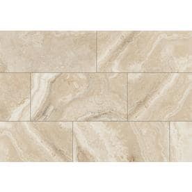 Style Selections Rapolano Beige 12-in x 24-in Porcelain Floor and Wall Tile (Common: 12-in x 24-in; Actual: 11.75-in x 23.75-in)