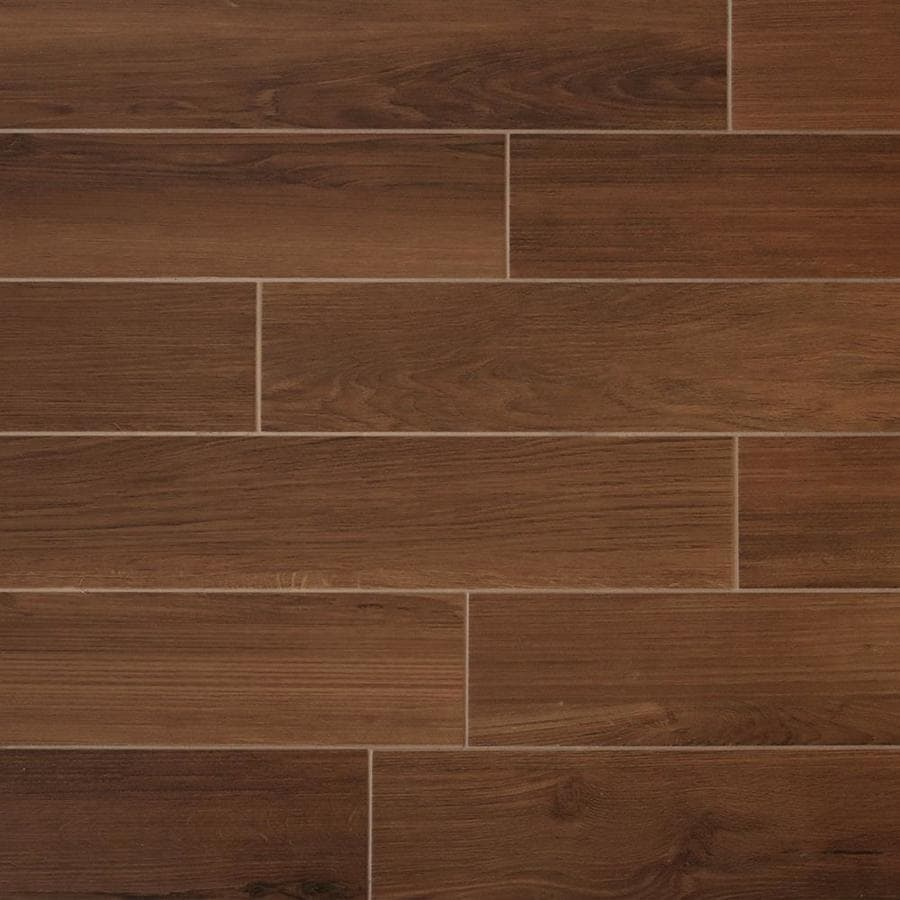 Shop True Porcelain Co Shenandoah Mahogany Porcelain Wood Look