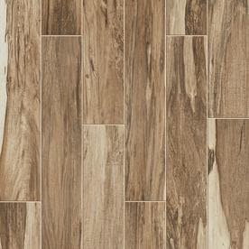 Style Selections Brazilian Pecan Natural Wood Look Porcelain Floor And Wall  Tile (Common: 6