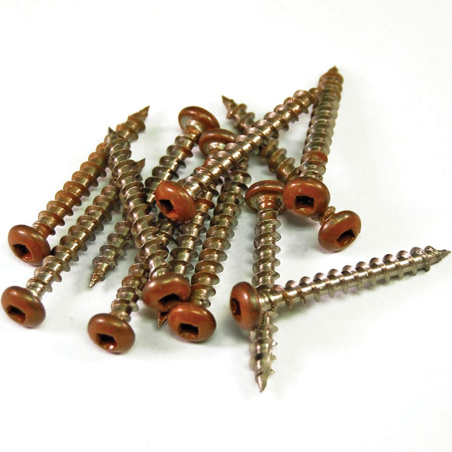 Barrette 1.5-in Redwood Tone Vinyl Lattice Screws