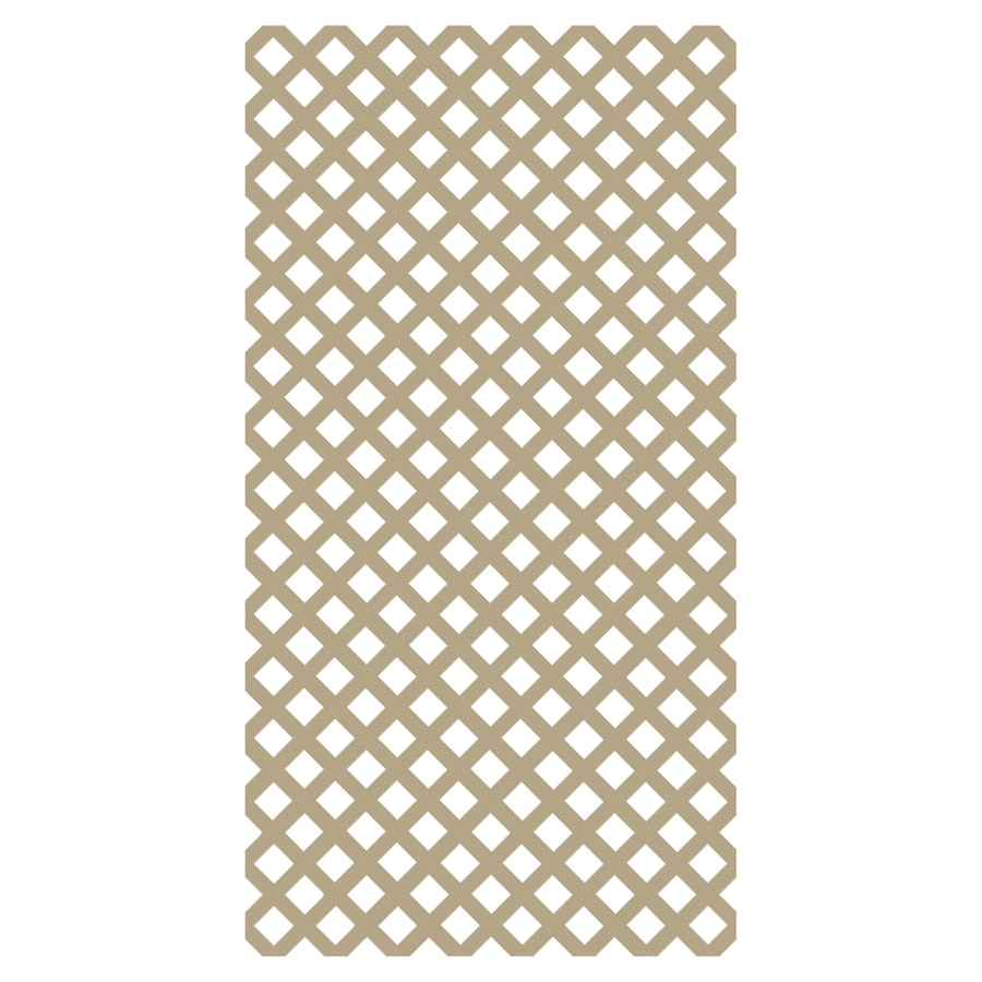 Freedom (Common: 1/8-in x 48-in x 8-ft; Actual: 0.15-in x 47.53-in x 7.92-ft) Wicker Vinyl Traditional Lattice