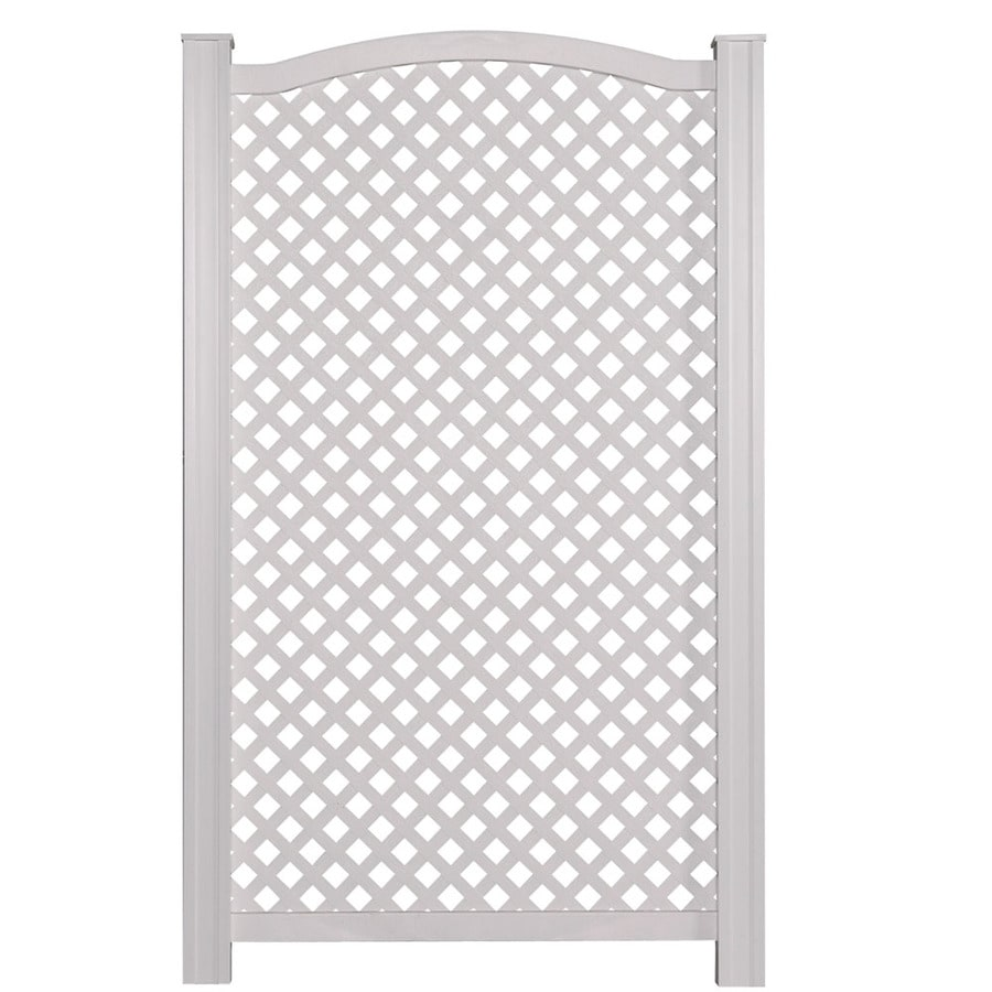Barrette 21 46 In W X 61 H White Vinyl Polyresin Outdoor Privacy