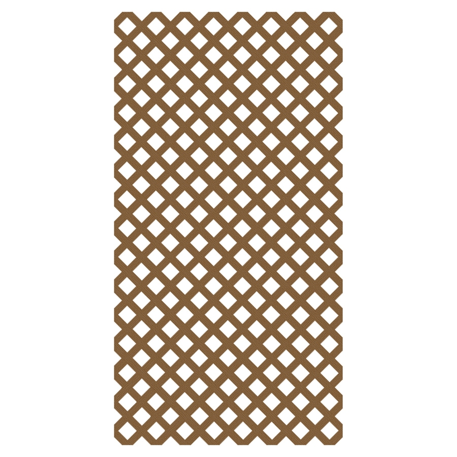 Barrette (Common: 3/20-in x 48-in x 8-ft; Actual: 0.15-in x 47.53-in x 7.92-ft) Cedar Vinyl Traditional Lattice