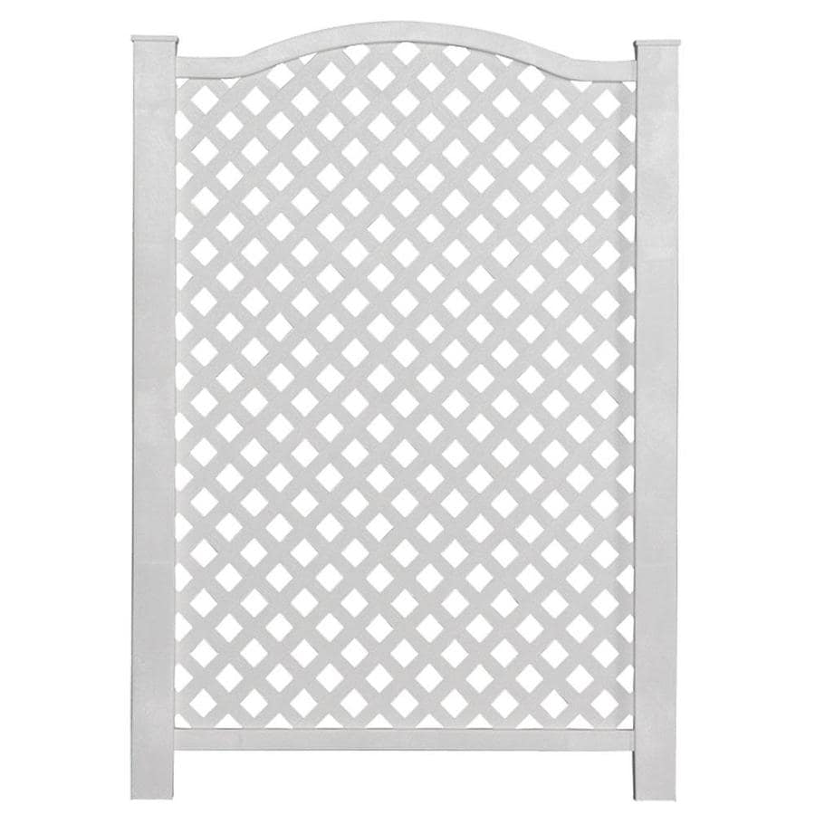 Freedom Grab&Go 31.97-in W x 45.4-in H White Vinyl/Polyresin Outdoor Privacy Screen