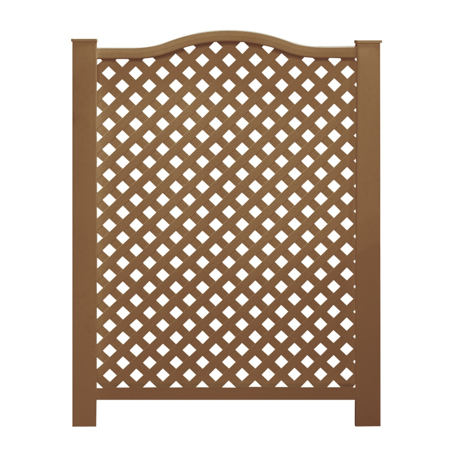 Barrette (Common: 4-ft x 3-ft; Actual: 3.82-ft x 3.19-ft) Brown Vinyl Decorative Metal Fence Panel