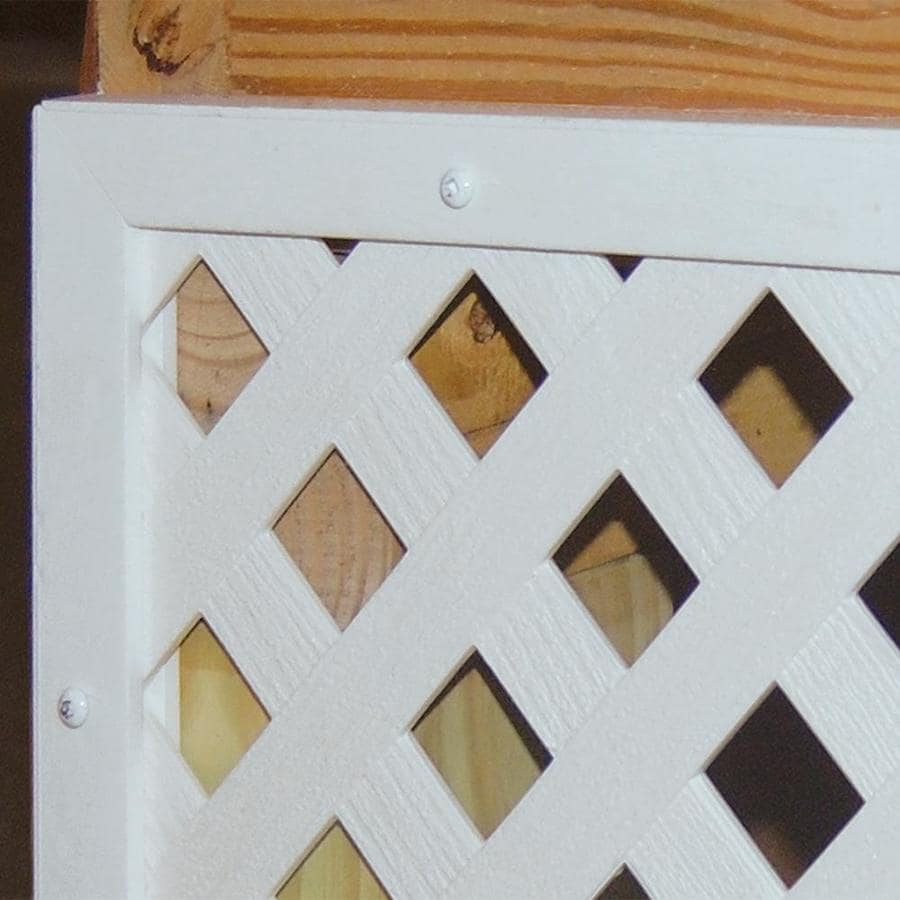 White Vinyl Lattice Cap (Common: 3/4-in x 1-in x 8-ft; Actual: 0.745-in x 0.995-in x 8.02-ft)