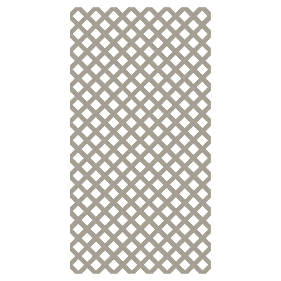 Freedom (Common: 1/8-in x 48-in x 8-ft; Actual: 0.15-in x 47.53-in x 7.92-ft) Clay Vinyl Traditional Lattice