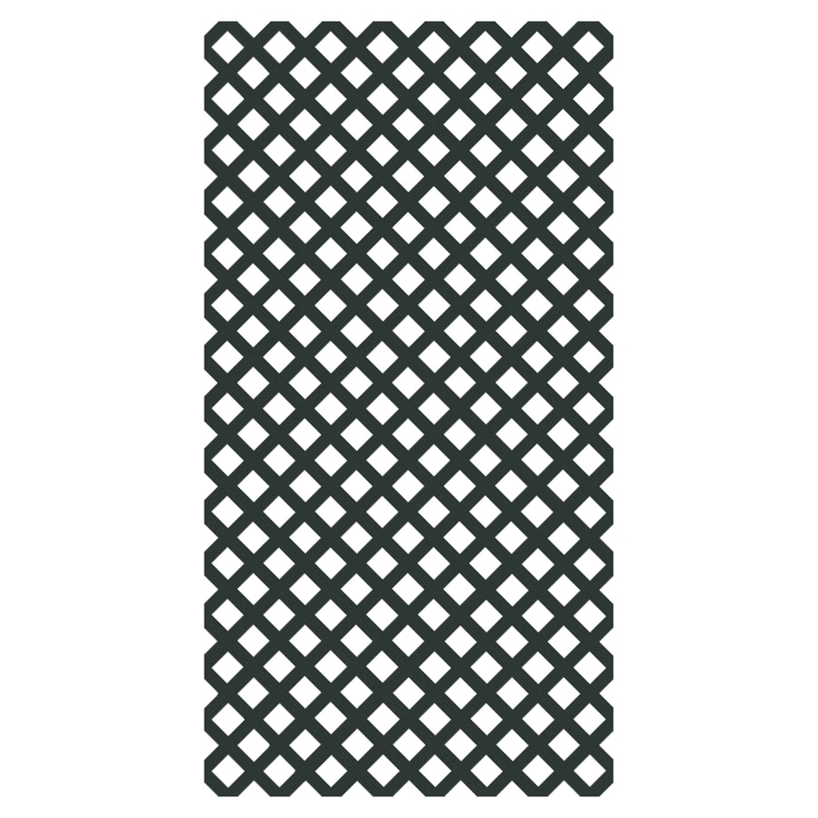 Freedom (Common: 1/8-in x 48-in x 8-ft; Actual: 0.15-in x 47.53-in x 7.92-ft) Dark Green Vinyl Traditional Lattice