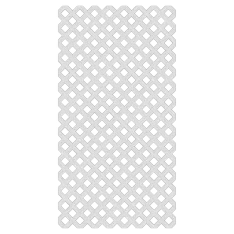 (Common: 1/8-in x 48-in x 8-ft; Actual: 0.15-in x 47.53-in x 7.92-ft) White Vinyl Traditional Lattice