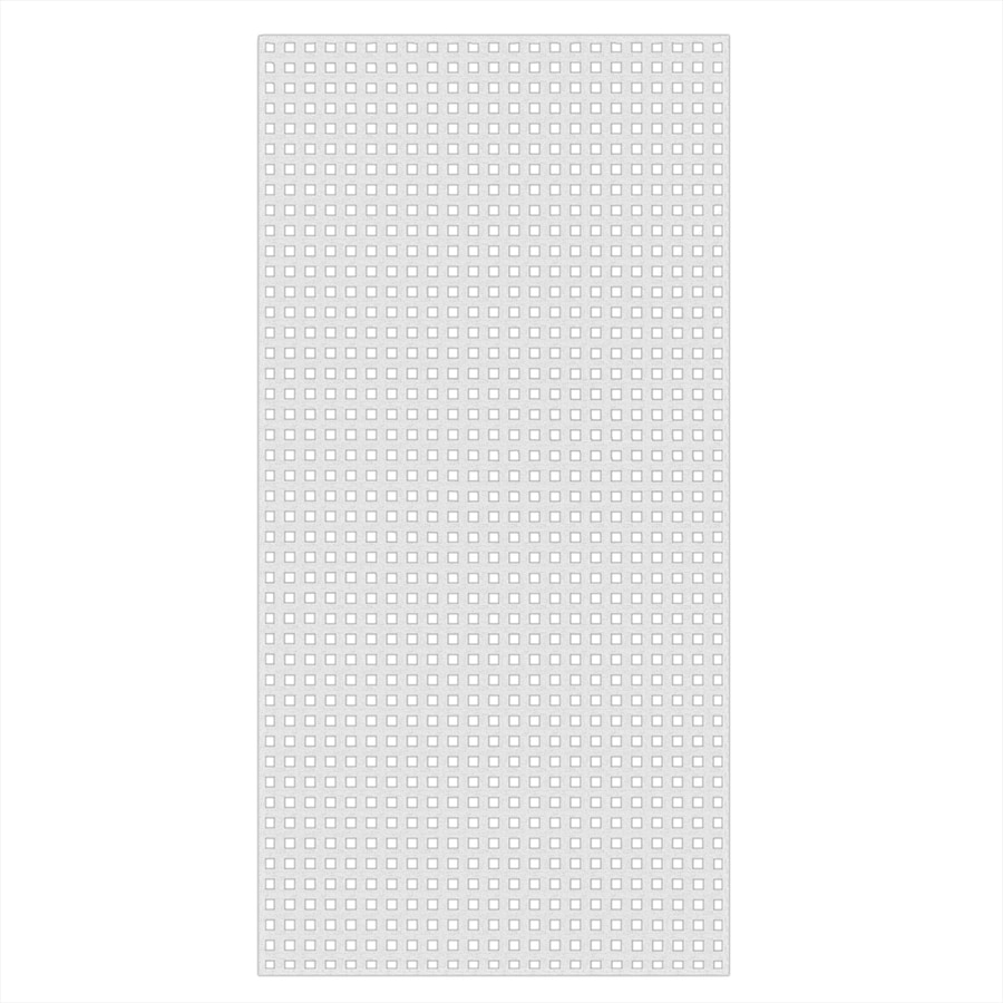White Vinyl Square Lattice (Common: 1/4-in x 48-in x 8-ft; Actual: 0.19-in x 47.53-in x 7.92-ft)